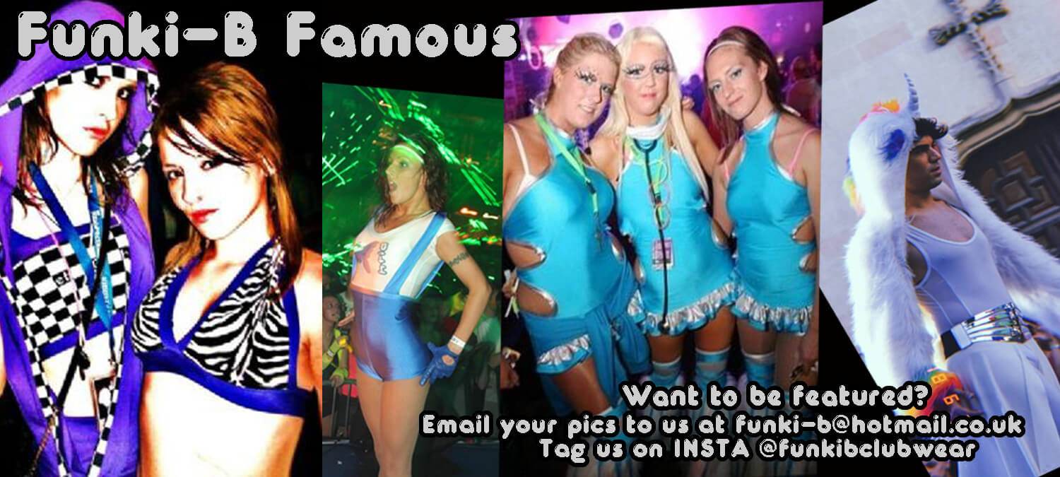 About Funki-B - Custom Made Clothing - Dancwear, Clubwear, Hen Parties, street wear, rave wear, free style hip hop, kids clothing, cyber, fluffies