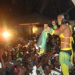 Tenza with her funki-b style. Performing in Gambia