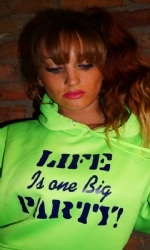 Full Jersey Hoody Lime