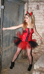 Devil Cross Tube Dress