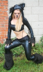 Cat Wetlook Trousers 3pc