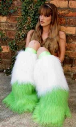 Lime and White 2tone Fluffs