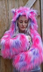 Lined Cat fur Shrug