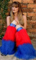 Blue and Red 2tone Fluffs