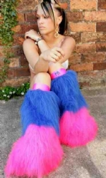 Pink and Blue 2tone Fluffs