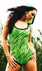 Special Lime Zebra leotard