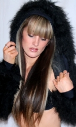 LINED Hood Fur Shrug