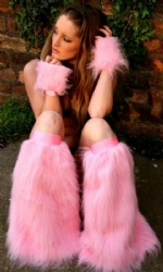 Candy Pink Fluffs and Cuffs