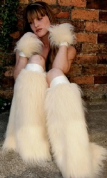 Cream Fluffs and Cuffs