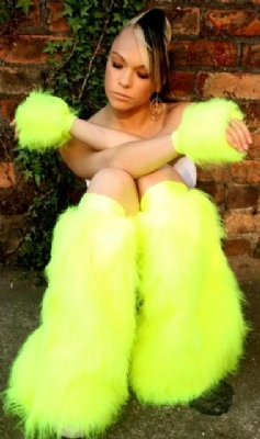 Neon Yellow Fluffs and Cuffs