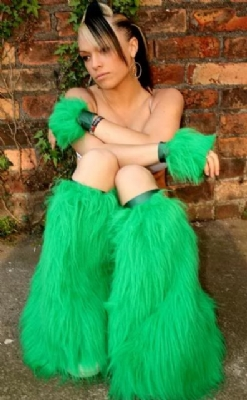 Emerald Fluffs and Cuffs
