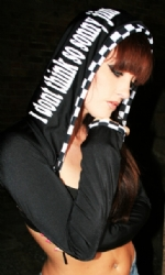 Hooded Shrug Black/Racer