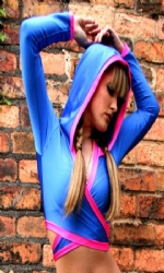 Hooded Multi Blue/Pink