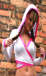 Hooded Multi Wht/Pink