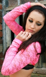 Shrug Pink Lace