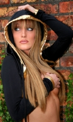 Hooded Shrug Black/Gold