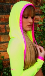 Hooded Shrug NYell/Pink