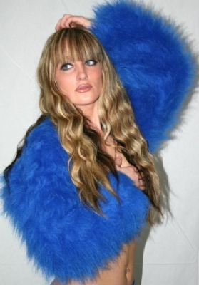 Fur Shrug Blue