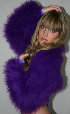Fur Shrug Purple