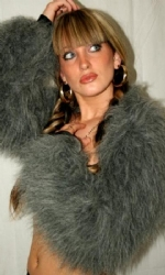 Fur Shrug Grey