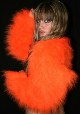 Fur Shrug Orange