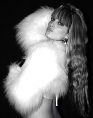 Fur Shrug White