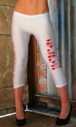 Slashed Leggings white