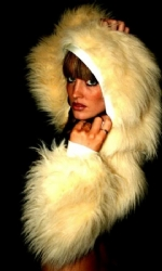 Fur Hood Shrug Cream