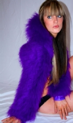 Fur Hood Shrug Purple