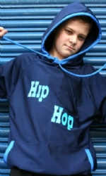 Navy/Blue Full length Hoody