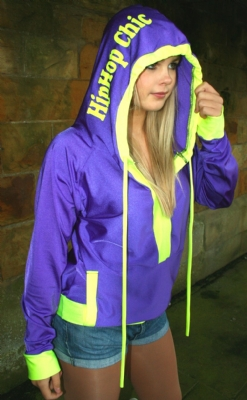 Purple/Yell Full Hoody