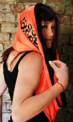 Snood Orange/Blk