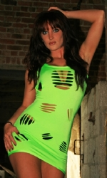 Slash Vest Dress Lime