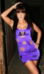 Slash Vest Dress Purple