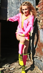 Hotpink/Yell HoodPants and Leg tubes