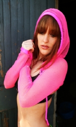Hooded Shrug PinkFish